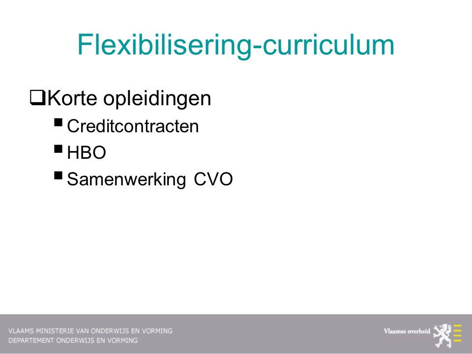 Flexibilisering-curriculum