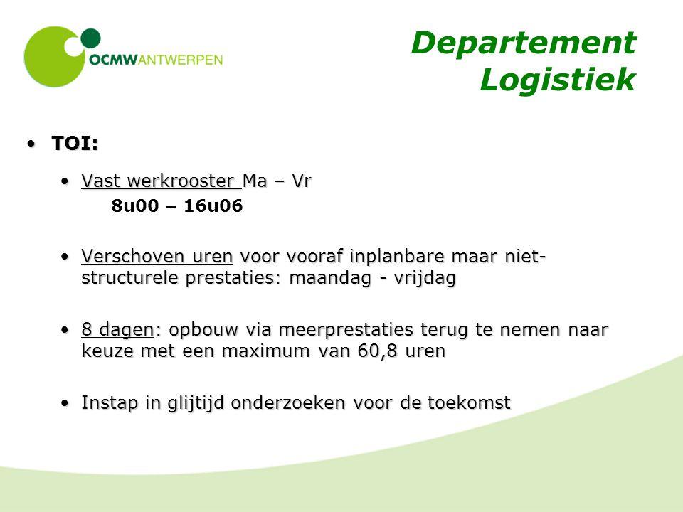 Departement Logistiek