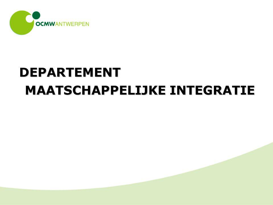 DEPARTEMENT MAATSCHAPPELIJKE INTEGRATIE
