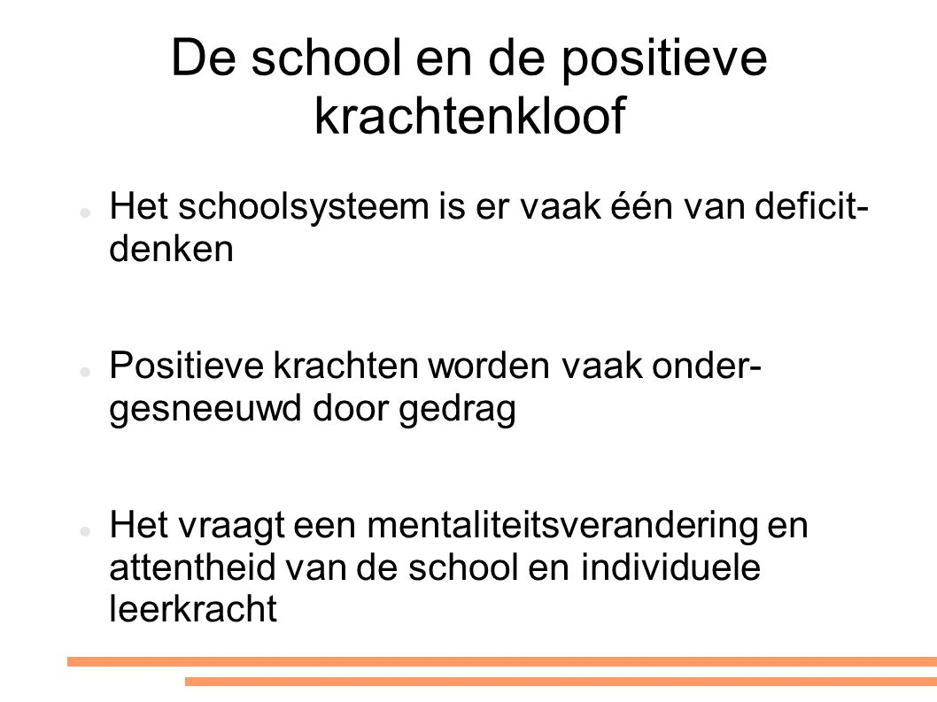 De school en de positieve krachtenkloof