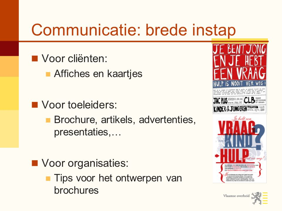 Communicatie: brede instap