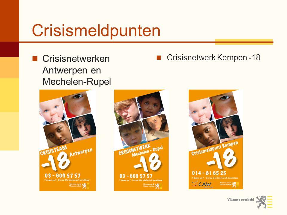 Crisismeldpunten Crisisnetwerken Antwerpen en Mechelen-Rupel