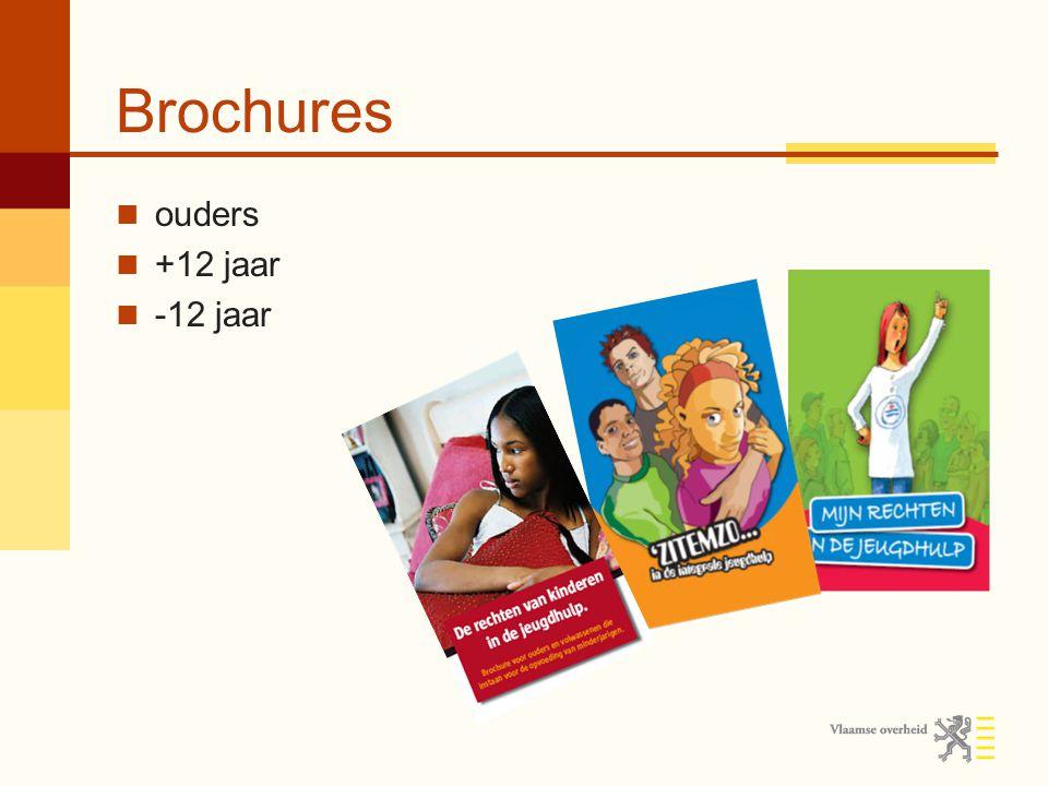 Brochures ouders +12 jaar -12 jaar