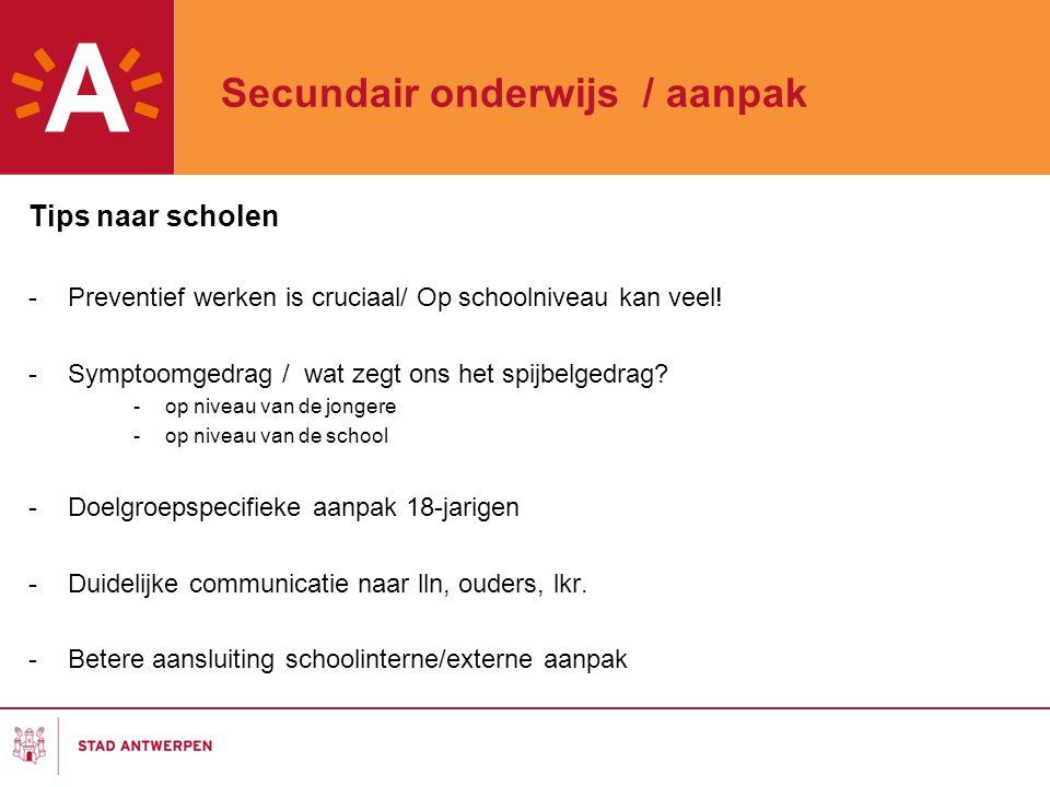 Secundair onderwijs / aanpak
