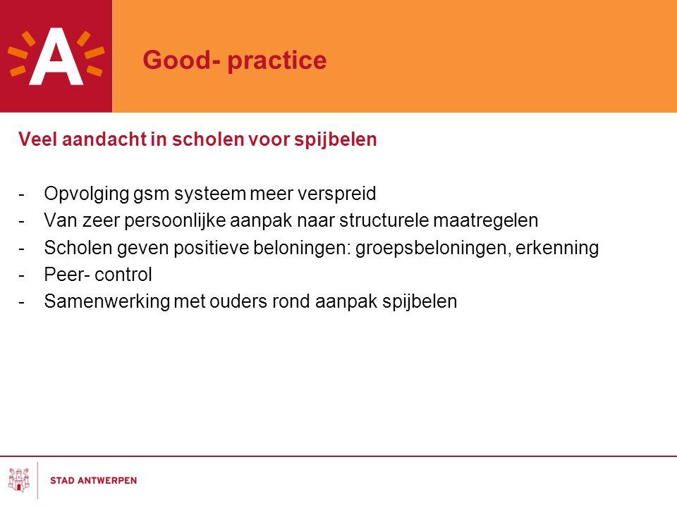 Good- practice Veel aandacht in scholen voor spijbelen
