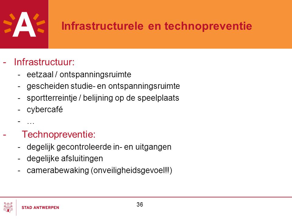 Infrastructurele en technopreventie