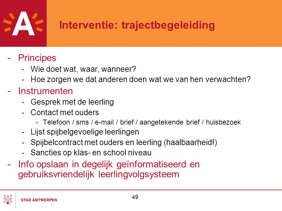 Interventie: trajectbegeleiding