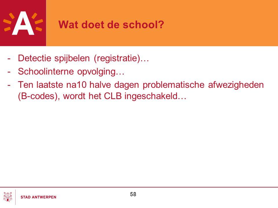 Wat doet de school Detectie spijbelen (registratie)…