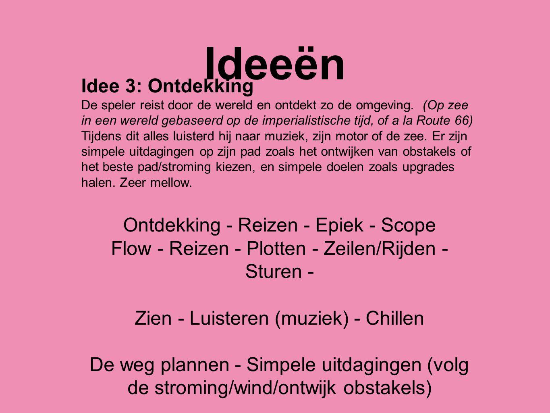 Ideeën Idee 3: Ontdekking Ontdekking - Reizen - Epiek - Scope