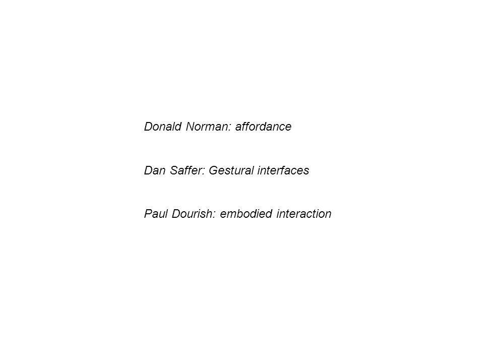 Donald Norman: affordance