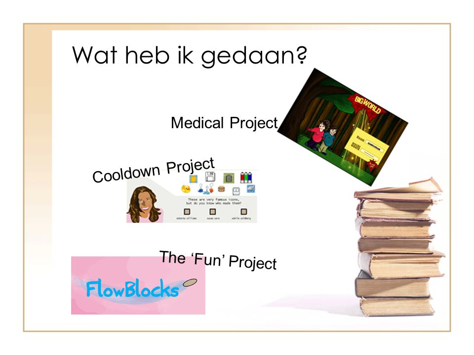 Wat heb ik gedaan Medical Project Cooldown Project The 'Fun' Project
