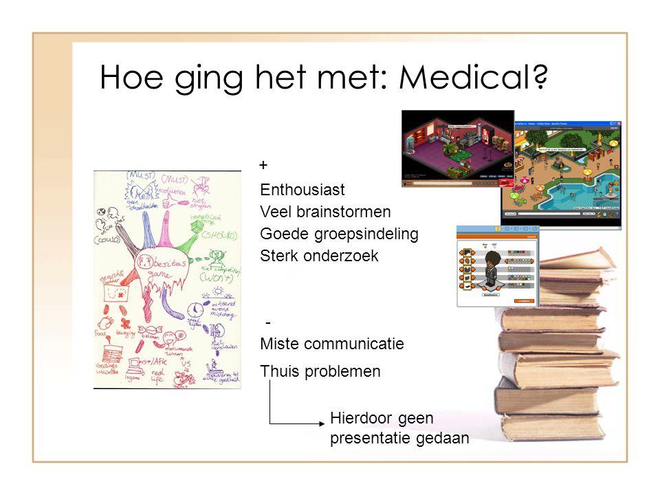 Hoe ging het met: Medical