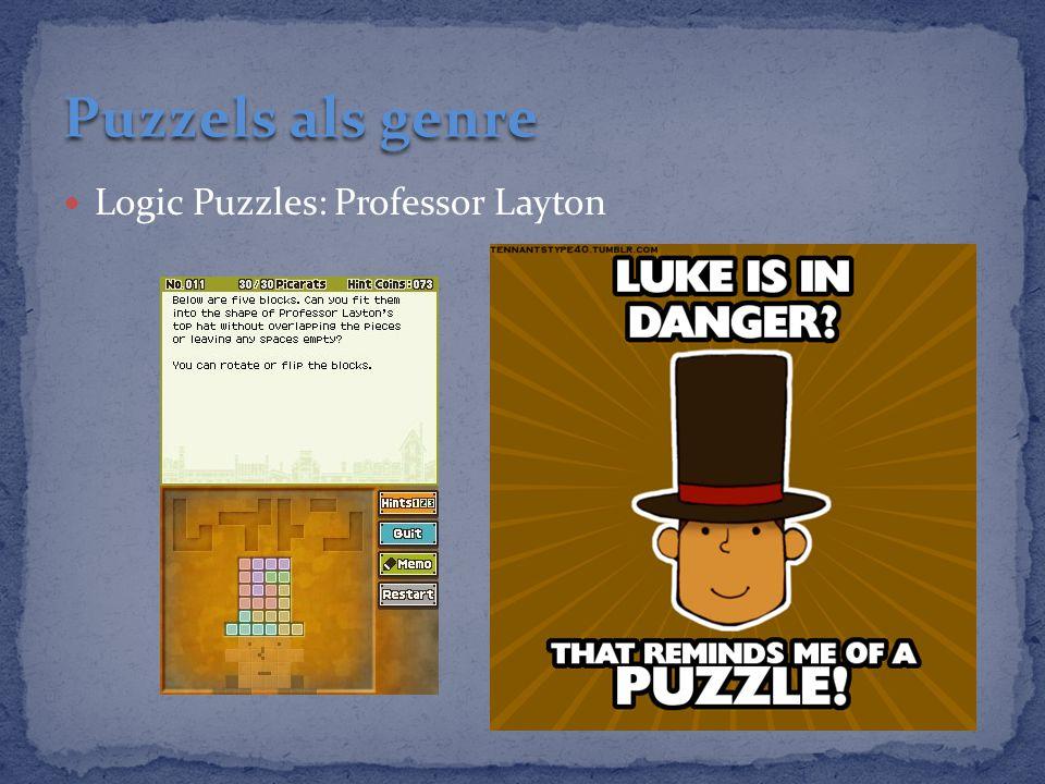 Puzzels als genre Logic Puzzles: Professor Layton