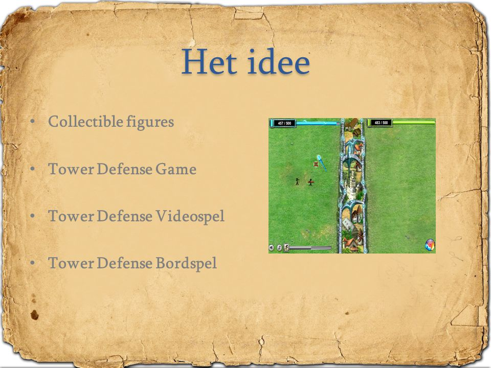 Het idee Collectible figures Tower Defense Game