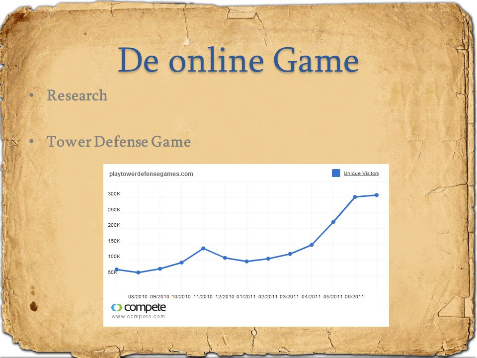 De online Game Research Tower Defense Game