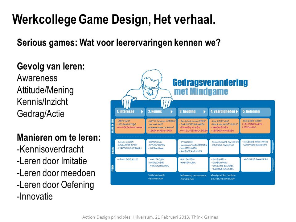 Action Design principles, Hilversum, 21 Februari 2013, Th!nk Games