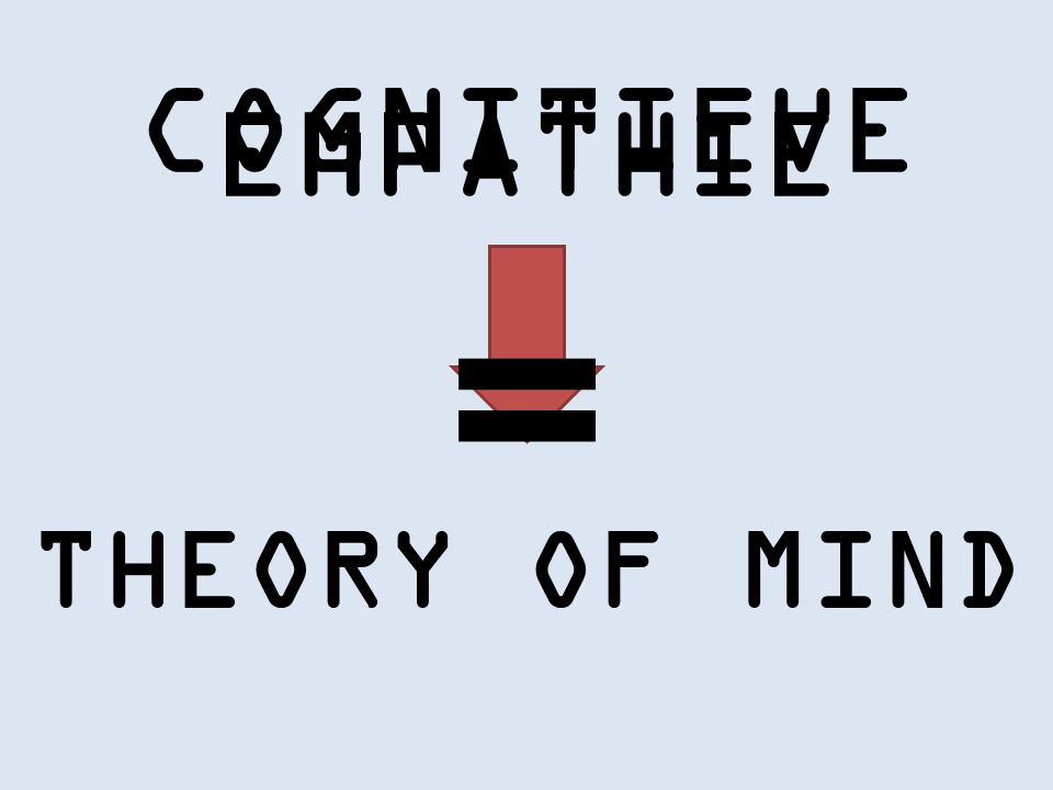 COGNITIEVE EMPATHIE THEORY OF MIND