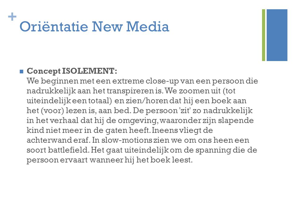 Oriëntatie New Media