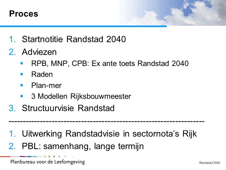Startnotitie Randstad 2040 Adviezen