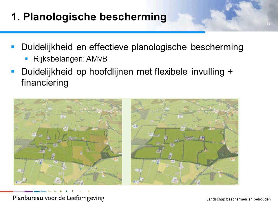 1. Planologische bescherming