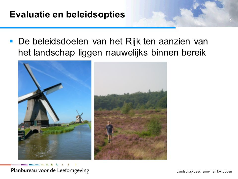 Evaluatie en beleidsopties