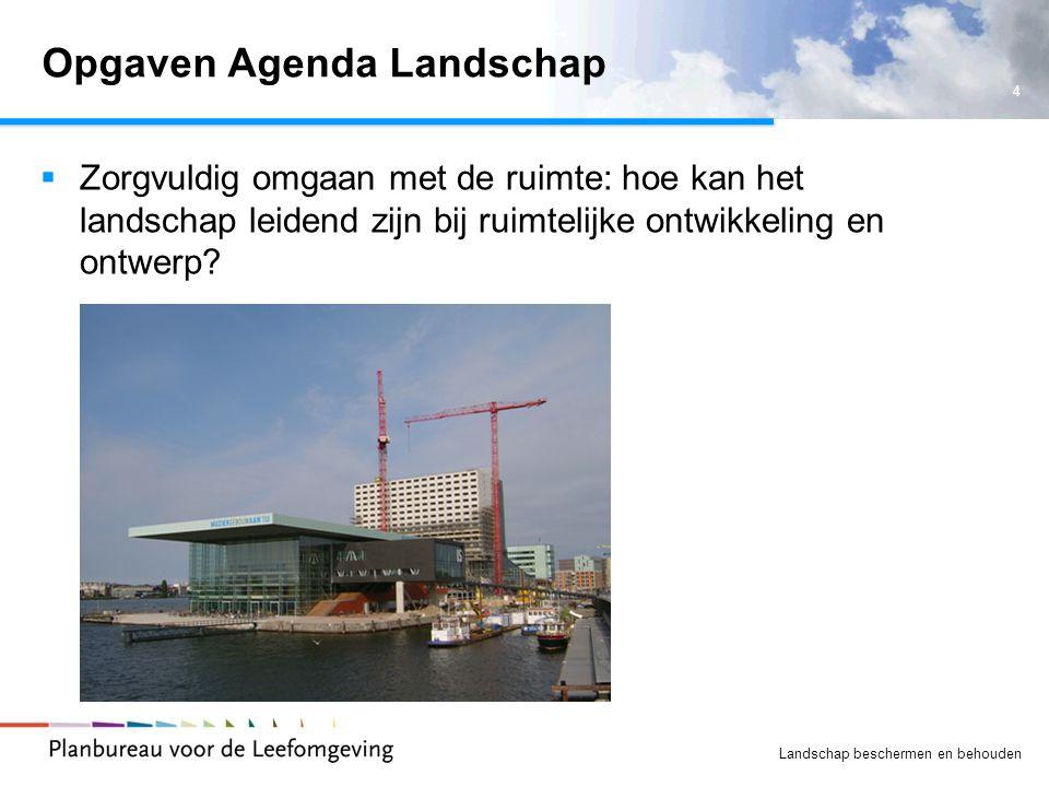 Opgaven Agenda Landschap