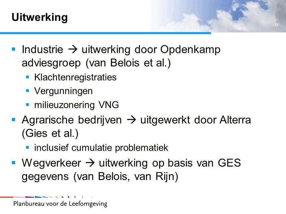 Industrie  uitwerking door Opdenkamp adviesgroep (van Belois et al.)