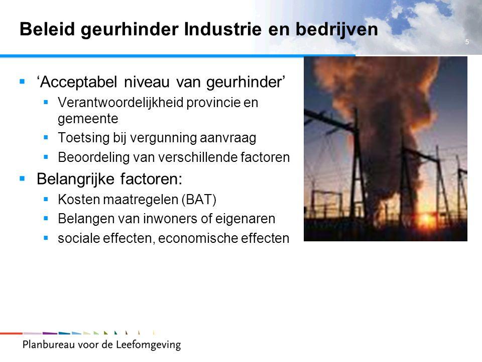 Beleid geurhinder Industrie en bedrijven