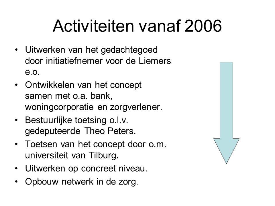 Activiteiten vanaf 2006 Uitwerken van het gedachtegoed door initiatiefnemer voor de Liemers e.o.