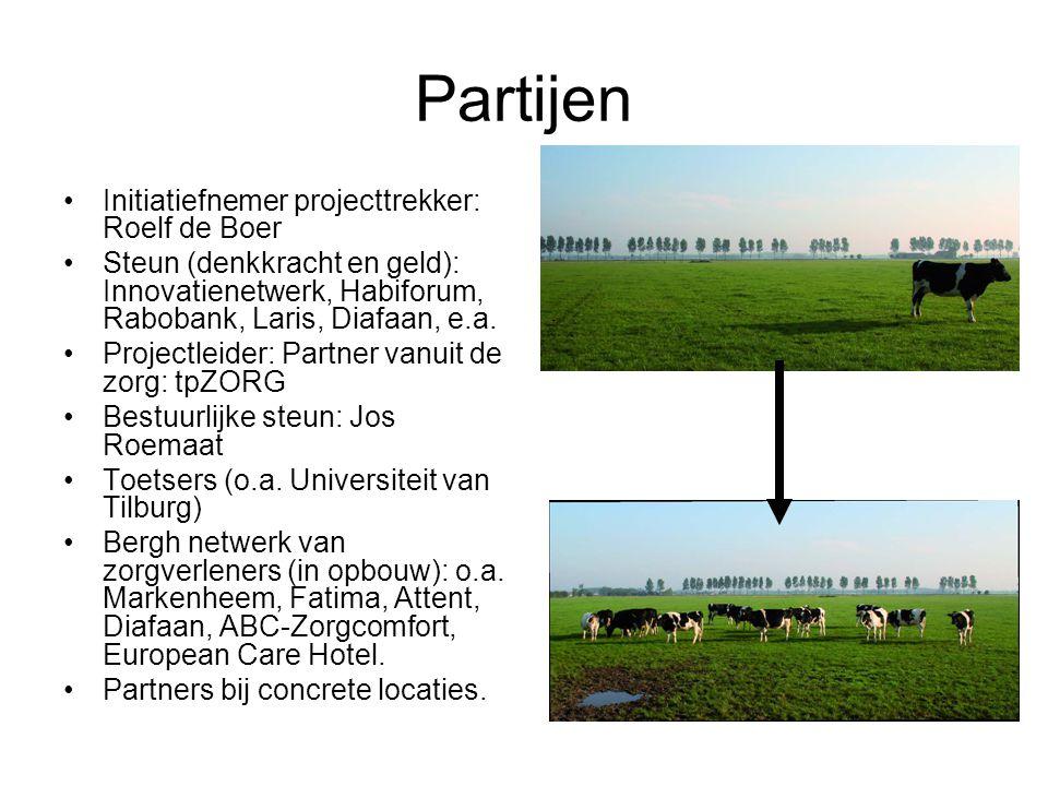 Partijen Initiatiefnemer projecttrekker: Roelf de Boer