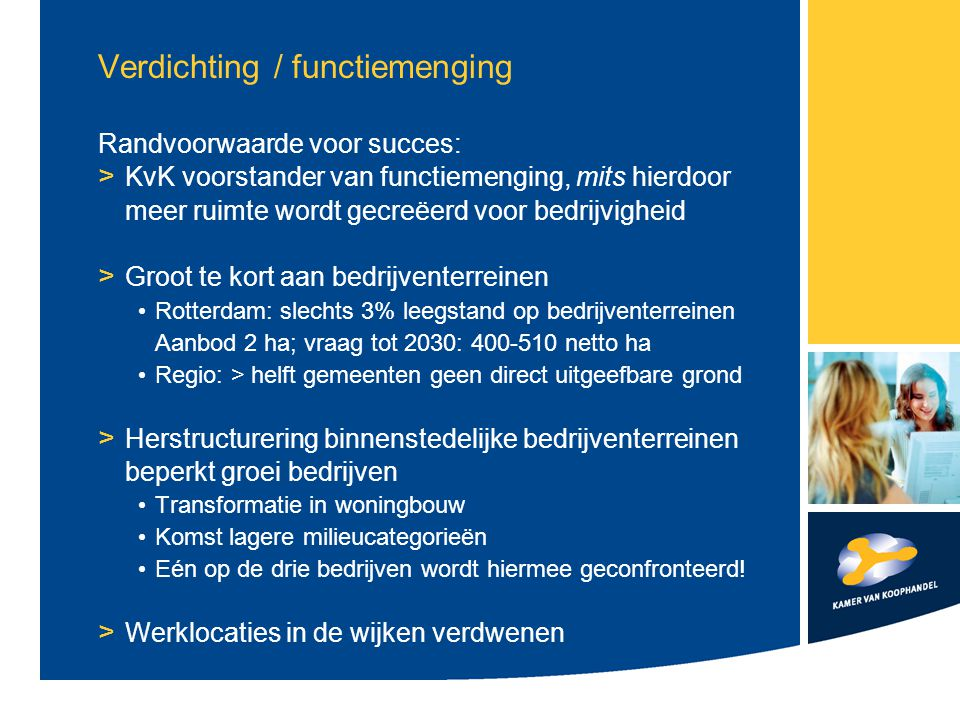 Verdichting / functiemenging