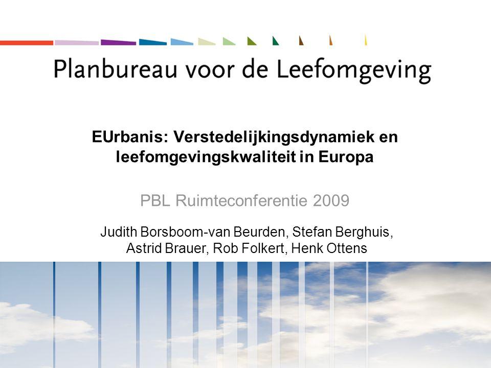 EUrbanis: Verstedelijkingsdynamiek en leefomgevingskwaliteit in Europa