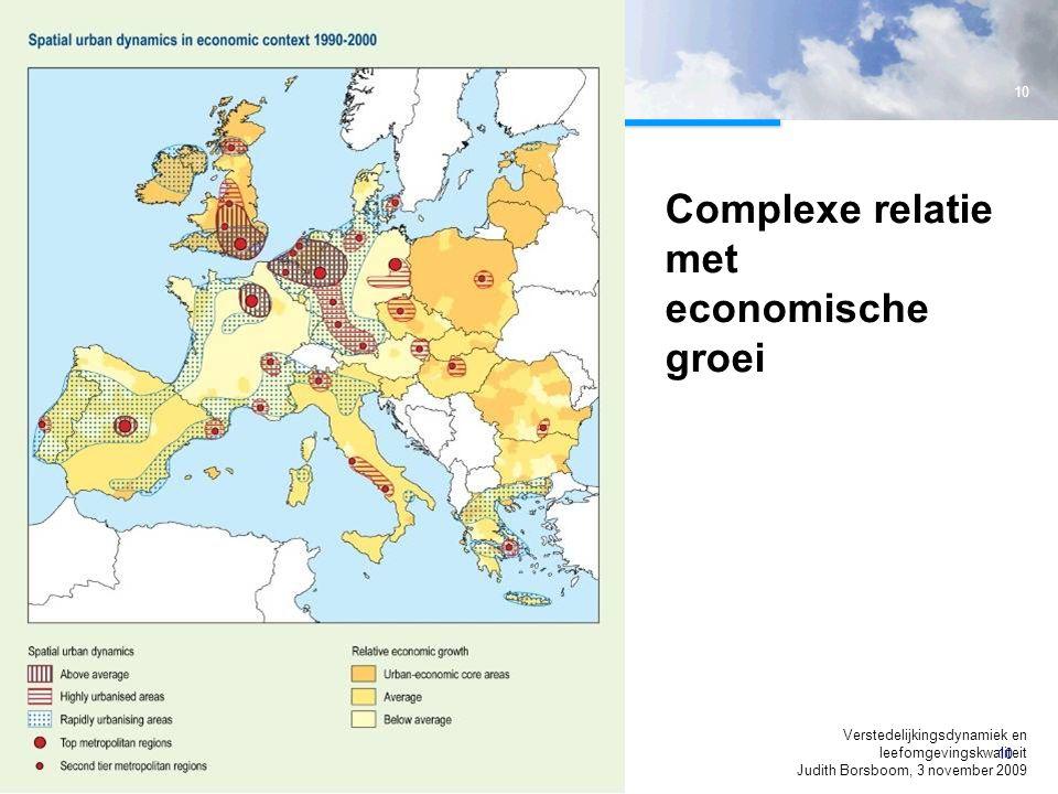 Complexe relatie met economische groei