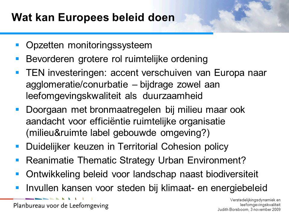 Wat kan Europees beleid doen