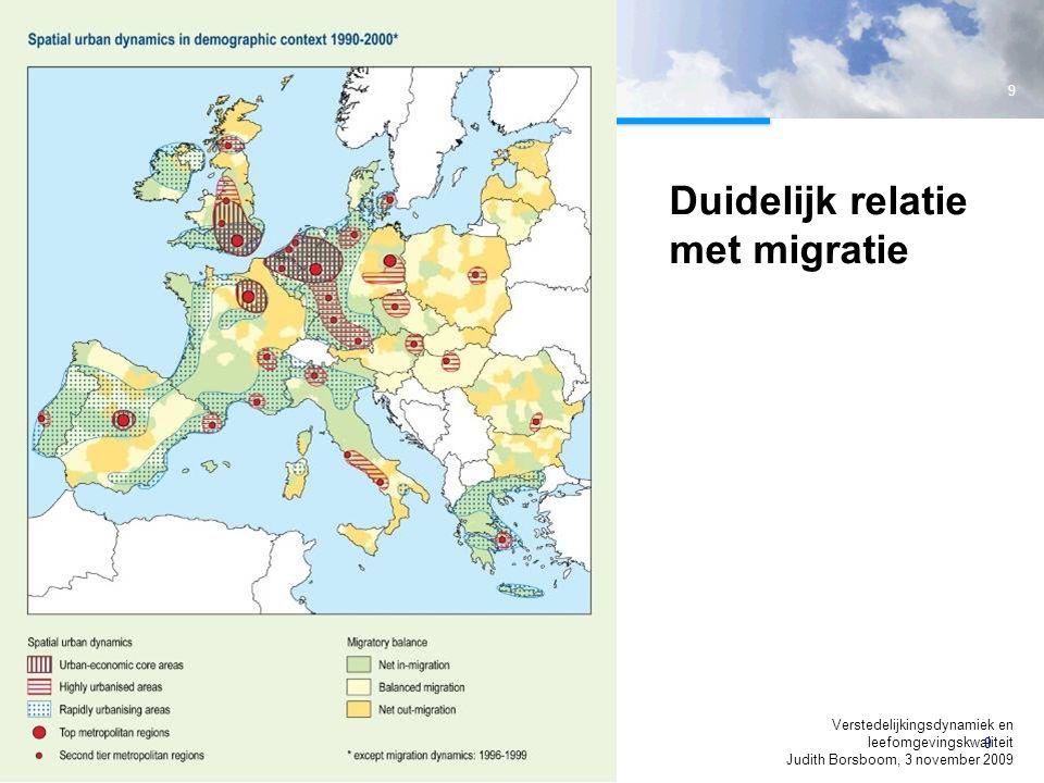 Duidelijk relatie met migratie