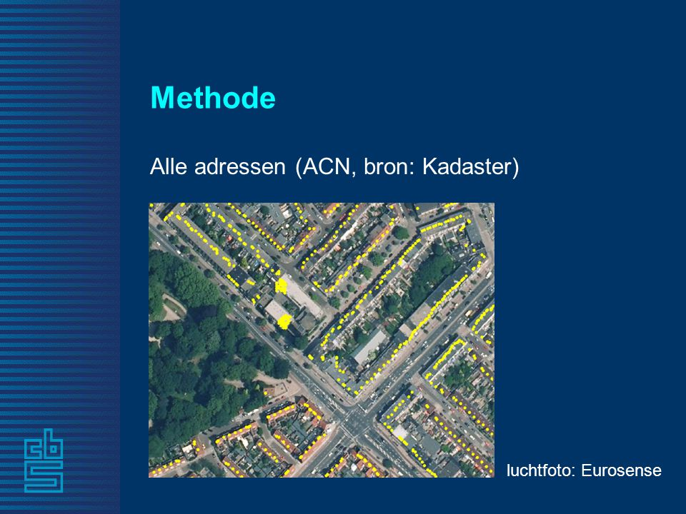 Methode Alle adressen (ACN, bron: Kadaster) luchtfoto: Eurosense