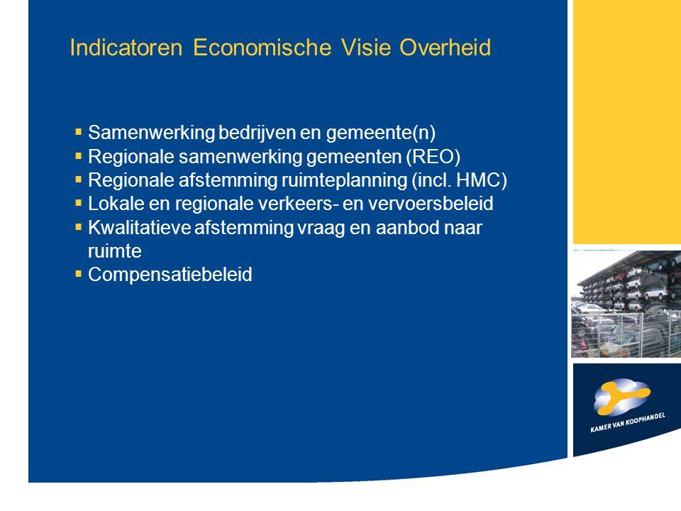 Indicatoren Economische Visie Overheid