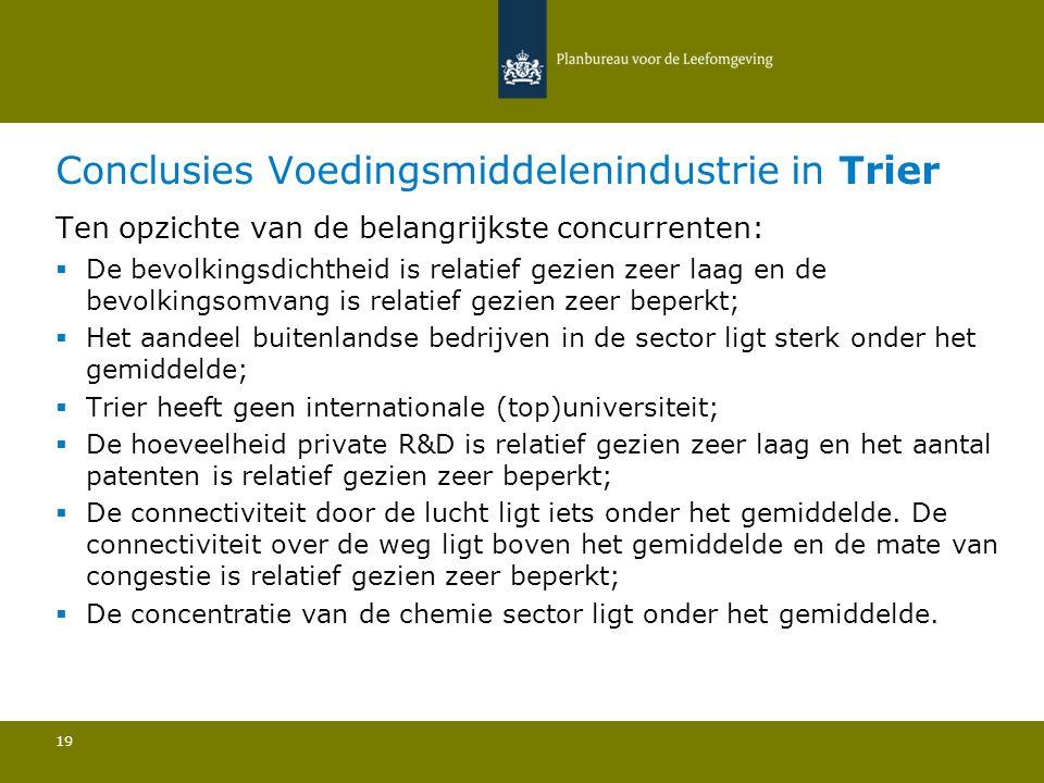 Conclusies Voedingsmiddelenindustrie in Trier