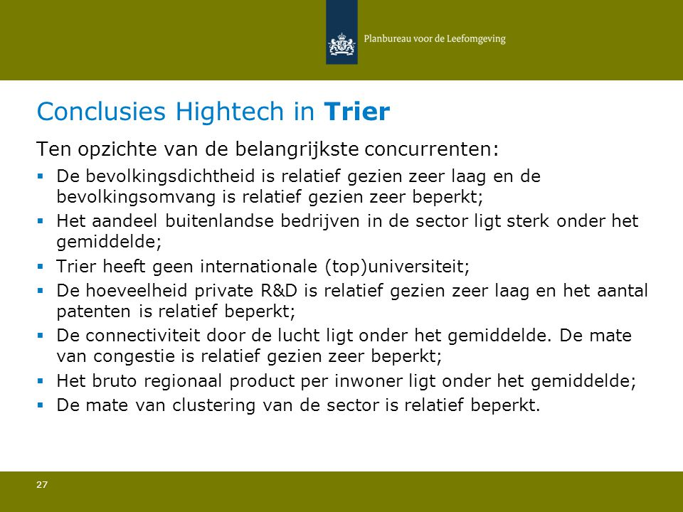 Conclusies Hightech in Trier