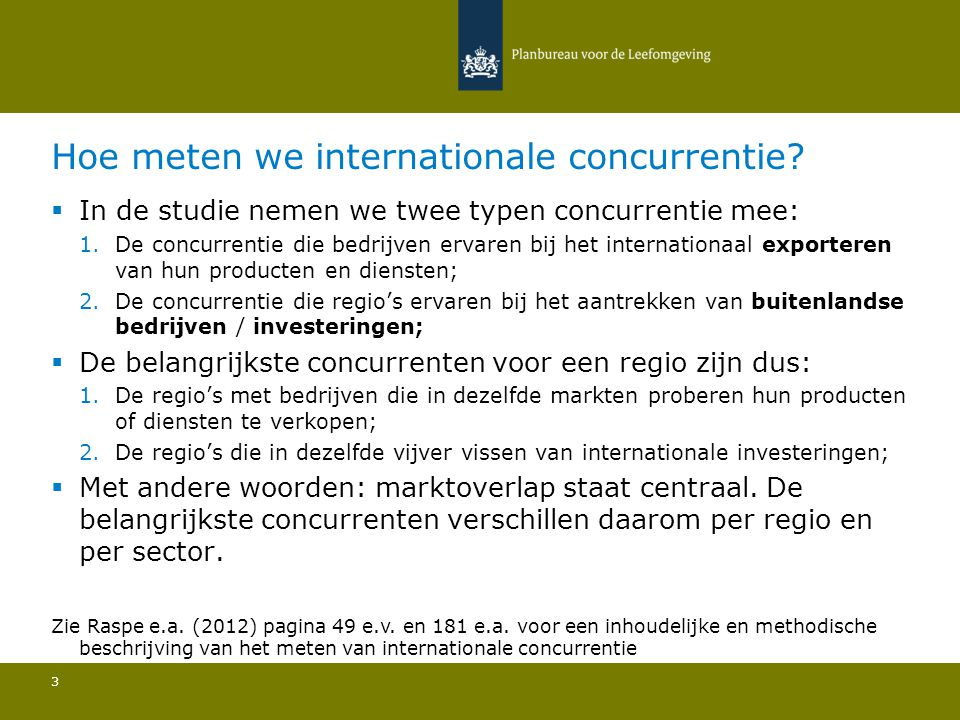 Hoe meten we internationale concurrentie