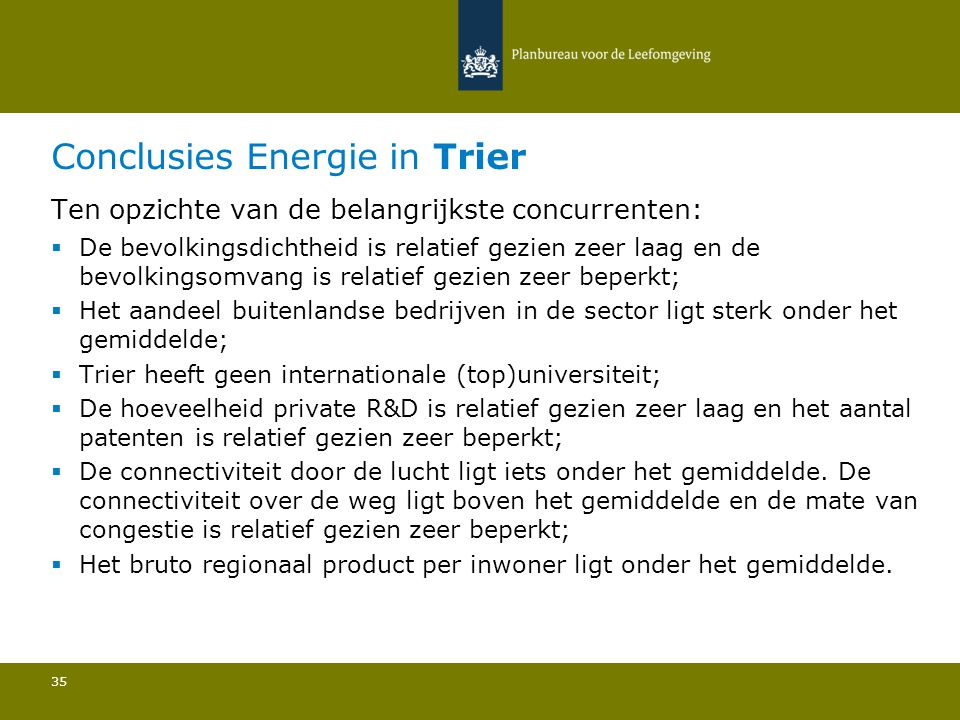 Conclusies Energie in Trier