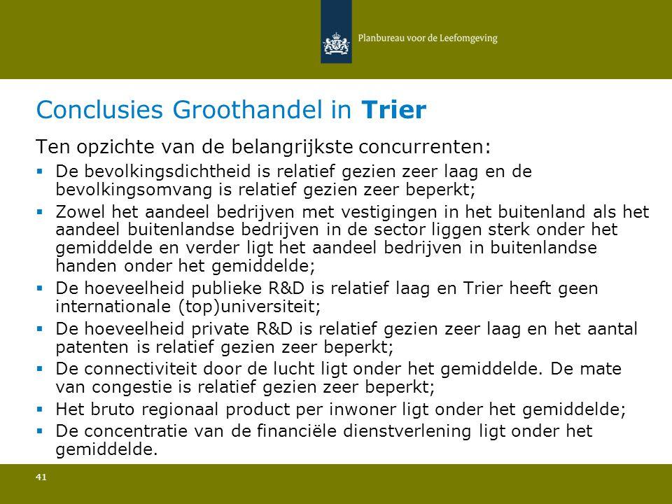 Conclusies Groothandel in Trier