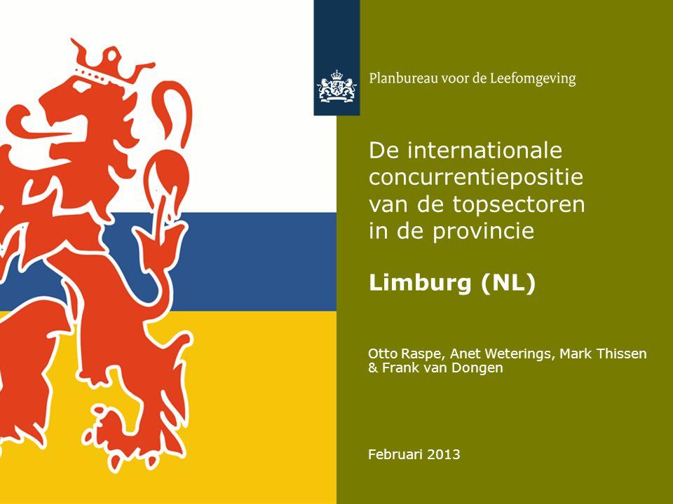 De internationale concurrentiepositie van de topsectoren in de provincie