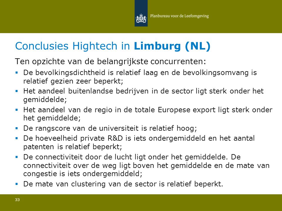 Conclusies Hightech in Limburg (NL)