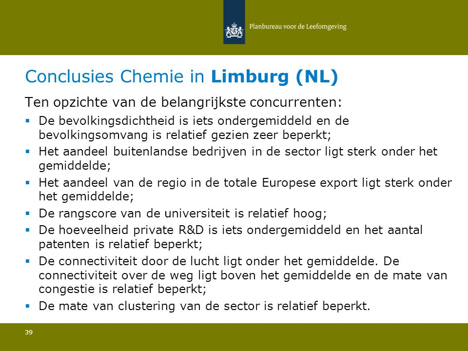 Conclusies Chemie in Limburg (NL)