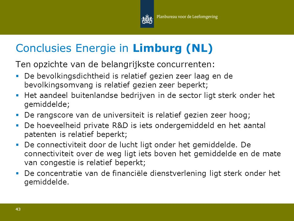 Conclusies Energie in Limburg (NL)