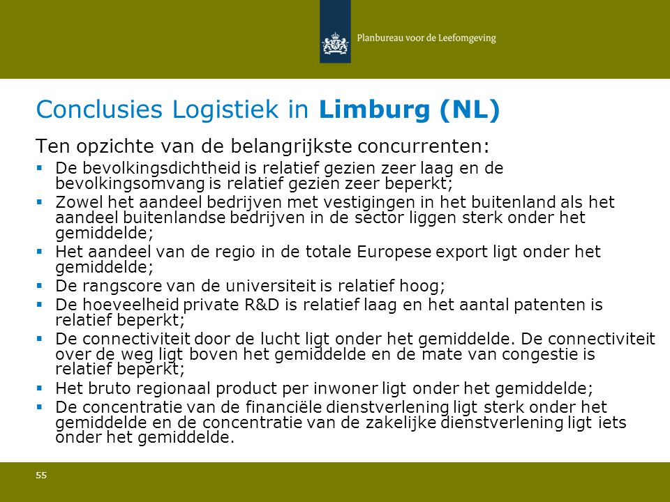 Conclusies Logistiek in Limburg (NL)