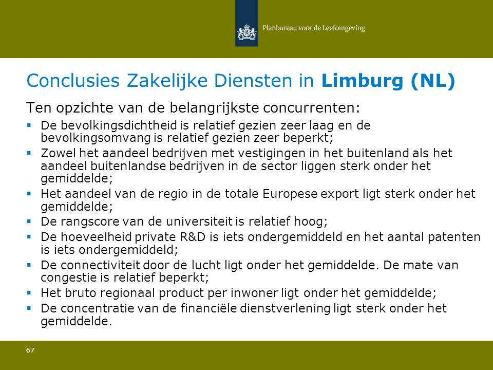 Conclusies Zakelijke Diensten in Limburg (NL)