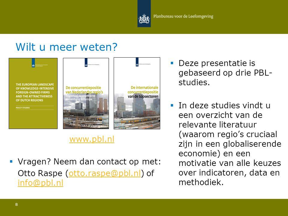 Wilt u meer weten Deze presentatie is gebaseerd op drie PBL-studies.