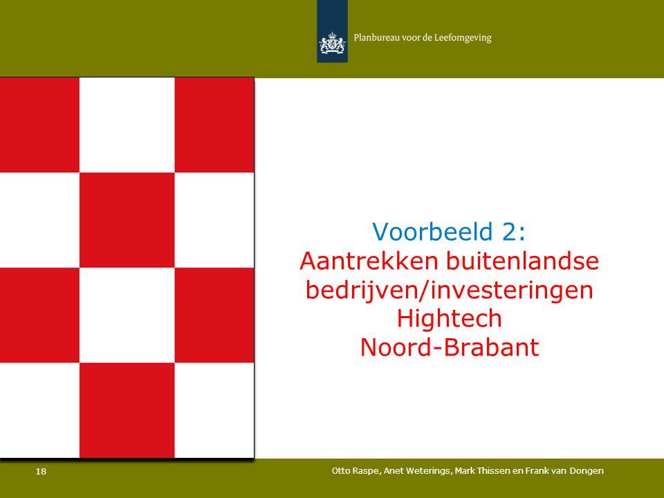 Voorbeeld 2: Aantrekken buitenlandse bedrijven/investeringen Hightech Noord-Brabant